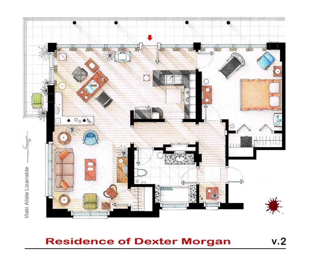 As casas das s ries – Ghost Whisperer House Floor Plan