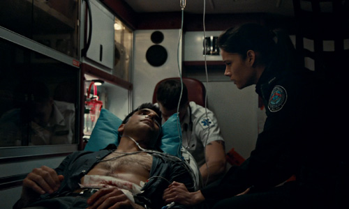 Rookie Blue Sam e Andy na ambulancia