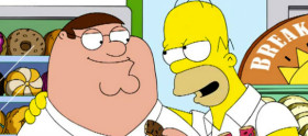 Veja 5 minutos do crossover de Simpsons e Family Guy