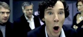 Fotos das gravações de Sherlock