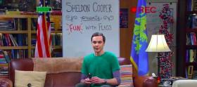 Sheldon Cooper: fun with flags