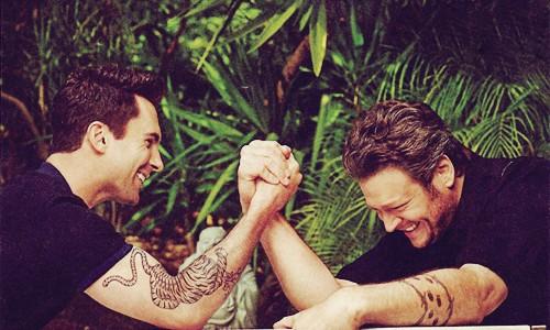Adam e Blake The Voice