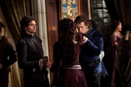 """""""Klaus"""" - Daniel Gillies as Elijah, Nina Dobrev as Catherine and Joseph Morgan as Klaus in THE VAMPIRE DIARIES on The CW.Photo: Bob Mahoney/The CW??2011 The CW Network, LLC. All Rights Reserved."""