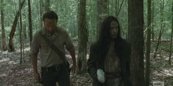 Rick mulher misteirosa The Walking Dead