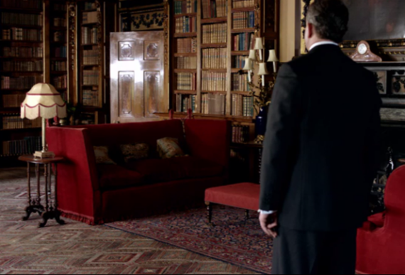 library-red-sofas-downton-abbey
