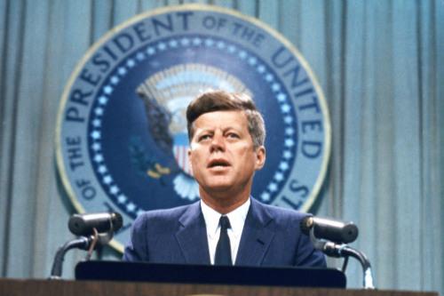 O ex-presidente dos EUA, John F. Kennedy