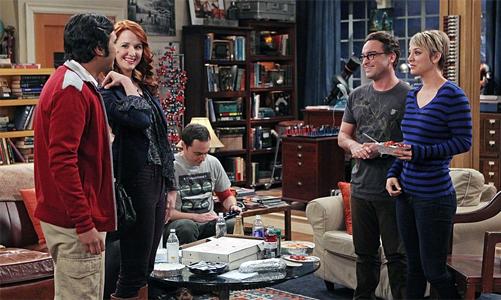The Big Bang Theory - Raj, Emily, Sheldon, Leonard, Penny