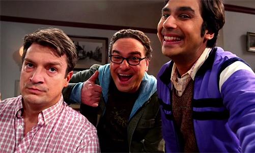 The-Big-Bang-Theory-8x15-Nathan-Fillion-Raj-Leonard